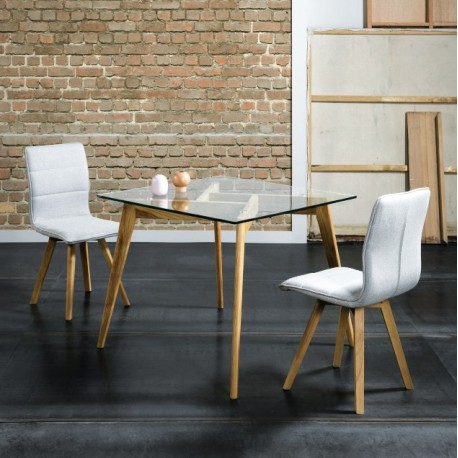 TABLE A MANGER CRISTAL CARREE