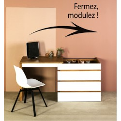 Commode - Bureau ELIX Chêne / White