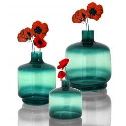 Trio de Vases OBY en verre soufflé Vert d'eau - LARGE