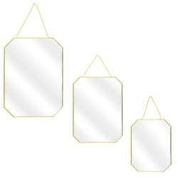 Trio de miroirs ANGULUS - Gold