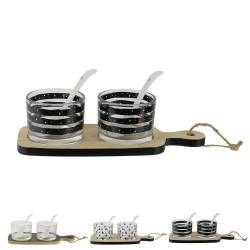 Ensemble coupelles, planches & cuillères - 3 modèles au choix