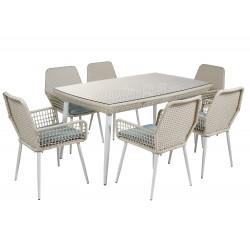 Ensemble salle à manger outdoor complete REINA ( Table + 6 fauteuils )