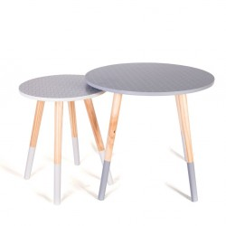 Duo de tables AZA - Graph Gray & White