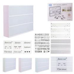 Boîte d'affichage lumineuse 30x22 cm - 3 coloris pastel