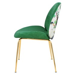 Chaise GAB Velvet & Gold - Vert Emeraude / Jungle