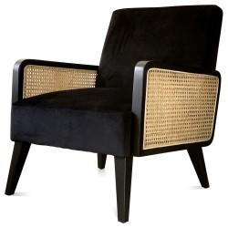 Fauteuil CANNA  Velours - Black Edition