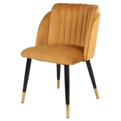 Chaise JULY Velvet & Gold - Curry