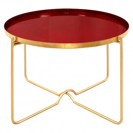 Table basse CITY Red passion & Gold - 70cm