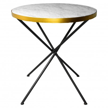 Table VINY Marble & Gold - 70cm