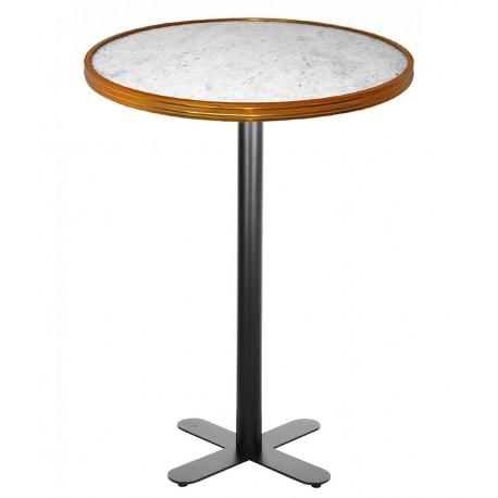 Table haute BISTRONOME White Marble & Gold