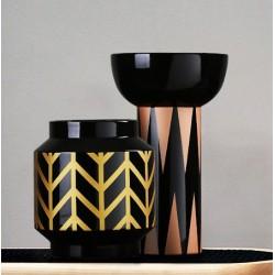 Duo de vase SURY graphique en porcelaine fine