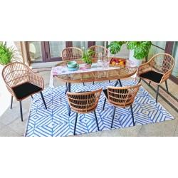 Ensemble salle à manger outdoor SUNNY ( Table + 2 fauteuils + 4 chaises )