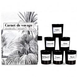 Coffret cadeau Bougies - CARNET DE VOYAGES - 6 parfums