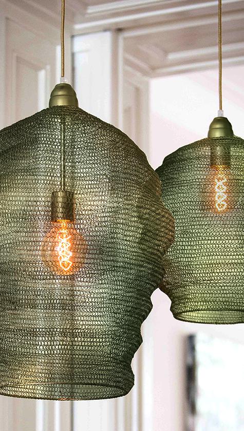 Luminaires CLOUD en maille métallique